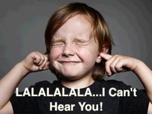 fingers in your ears